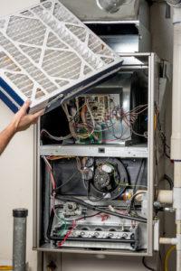 furnace repair changing filter